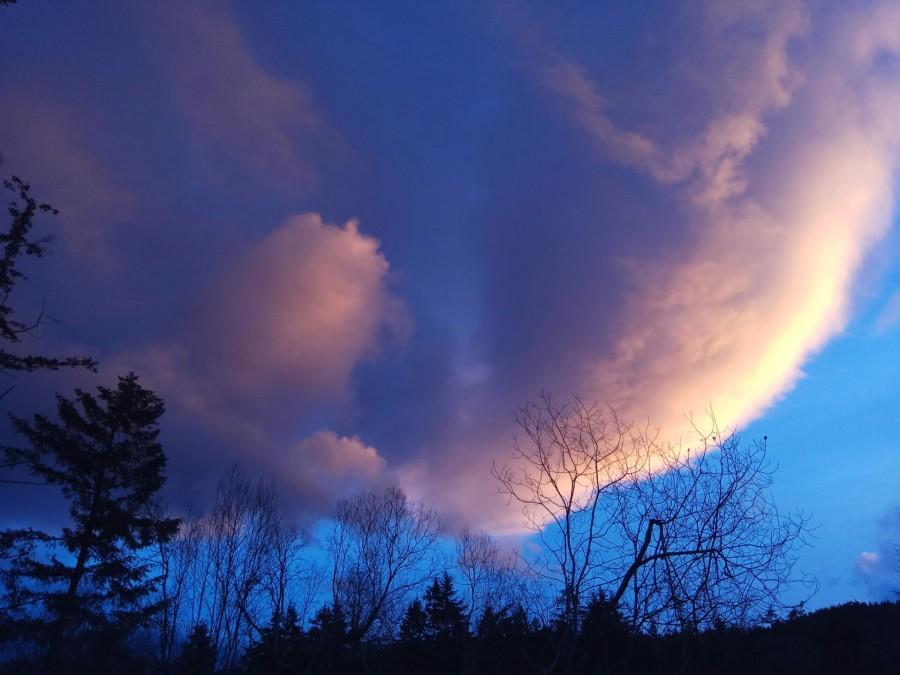 Sunset, Clouds, Galiano Island