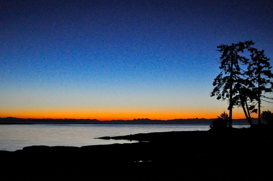 Dawn, sunrise, Salish Sea